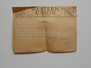 WWII Telegram Jewish Missing In Action Worried About Baby WW II War MIA VTG WW2