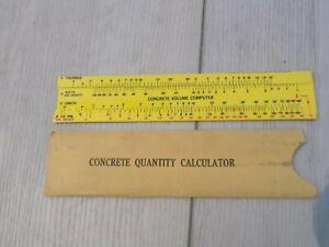 Concrete volume computer slide ruler