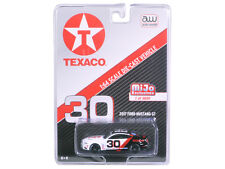 2017 FORD MUSTANG GT TEXACO RACING #30 BLACK/WHITE 1/64 CAR BY AUTOWORLD CP7438