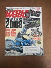 Cycle World November 2007 - 2008 Triumph 675 Kawasaki KLR650 Yamaha Star Raider
