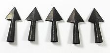 5 Anglo Saxon Iron Medieval Triangle Arrowhead Set -- archery/bow/hunting/arrow