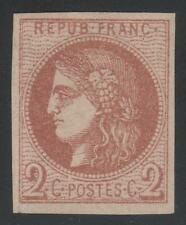 "FRANCE STAMP TIMBRE N° 40 B "" CERES BORDEAUX 2c BRUN-ROUGE "" NEUF x TTB K410"