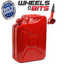 HIGH QUALITY METAL POWER COATED INSIDE AN OUT RED JERRY CAN 20L LITRE WITH SPOUT