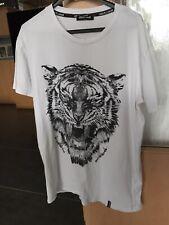 ROBERTO CAVALLI T-Shirt Weiß Gr. L 100%
