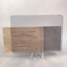 Sinead O Connor Tweeter Memorial Auditorium Concert Ticket Stub Vtg June 18 1997