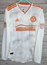 Atlanta United FC adidas White King Peach Authentic Long Sleeve Jersey NEW