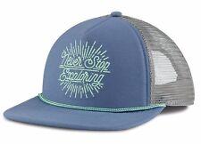 YOUTH New The North Face CROSS STITCH COASTAL FJORD BLU Trucker Snapback Cap Hat