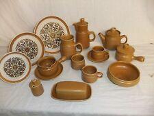 C4 Pottery Langley/Denby - Canterbury - cups, plates, bowls, tea/coffee pot 9C1D