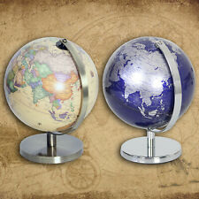 Vintage Globe World Map Earth Geography Ball Rotating Atlas Home Office Ornament