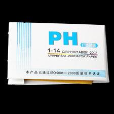 2x 80 Strips pH 1-14 Test Kit Paper 160 Piece Testing Water Acid Alkaline Garden