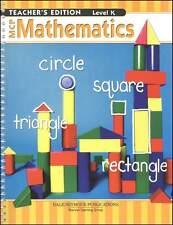 Kindergarten MCP Mathematics Grade Level K Teacher Edition Math