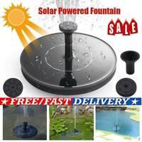 Solar Powered Floating Pump Water Fountain Birdbath Home Pool Garden Decor LED