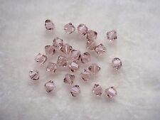 30 Swarovski® Kristall Perlen Xilion Beads 4mm VINTAGE ROSE Art. 5328