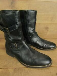 Orange by HUGO BOSS Black Leather Mens Engineer Boots Size 41 8