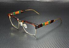 GUCCI GG0605O 005 Square Havana Gold Havana Demo Lens 52 mm Men's Eyeglasses