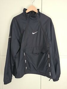 Nike Air Max Cargo Black Jacket Large L Top Adult Mens Funnel High Neck Pullover