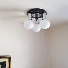 486b 70's Vintage Ceiling Light Lamp Fixture midcentury eames mod retro chrome