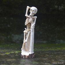 Human Skeleton Carved 136mm in Deer Antler Carving ST551 Table Decor