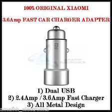 New XIAOMI 2.4 Amp Dual USB Metal Fast Car Charger Adapter for Xiaomi Mi6 Mi 6