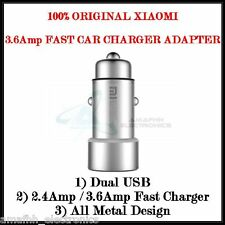 XIAOMI 2.4 Amp Dual USB Metal Fast Car Charger Adapter for Apple iPhone 7 4.7""