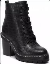 SH1* Womens Bullboxer High heeled ankle boots Black Croc Print Eur 40
