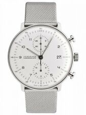 Junghans Max Bill Chronoscope Automatic Date Milanese Watch - 027/4003.44