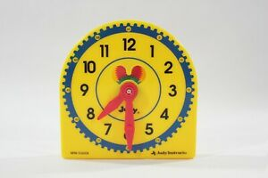Judy Instructo Mini-Clock Teaching Learning Plastic Clock Telling Time - NEW