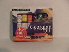 Georgian Oil Starter Set Daler Rowney 6 - 22 ml Assorted Colors With Brush