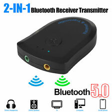 2 in 1 Bluetooth 5.0 Transmitter Receiver Wireless Adapter Audio A2DP TV Stereo