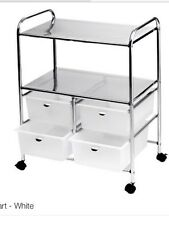 Pibbs Utility cart with 4 white drawers