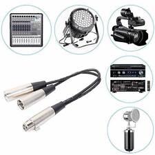 Sdoppiatore splitter XLR cannon 1 femmina a 2 maschio cavo adattatore microfono