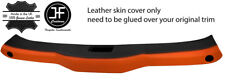 BLACK & ORANGE FRONT TOP ROOF PANEL LEATHER COVER FITS HONDA CRX DEL SOL 1992-97