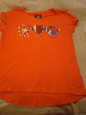 Woman's Pegasus Coral T-shirt with Metallic Embellishments on Front Size Large