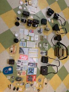 Vintage Nikon F camera w/ case Nikkor Lens Immaculate EXTRAS
