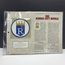 Willabee Ward anniversary patch badge emblem MLB 1985 Kansas City Royals Brett