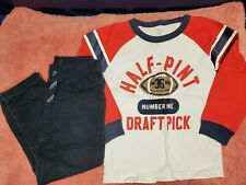 Carters Boys 2 Piece Outfit Size 4T. Boys Football Draft Pick Outfit