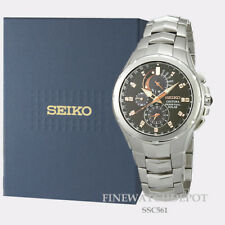 Authentic Seiko Men's Coutura Solar Chronograph Stainless Steel Watch SSC561