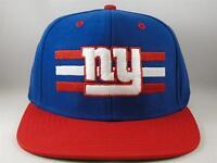 New York Giants NFL Reebok Logo Stripe Snapback Hat Cap Blue Red