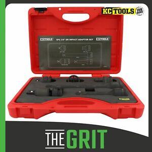 "KC Tools 5pc 3/4"" Dr Impact Socket Adaptor Set"