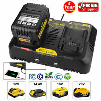 Dual Port Battery Charger For Dewalt DCB102 12V-20V MAX Li-Ion DCB120 DCB200 BG