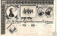 13944/ Foto AK, zur 50 jährigen Gedenkfeier unserer Erhebung 1848-98