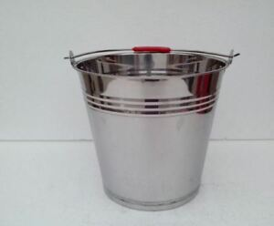 Stainless Steel Non-Magnetic thick multi purpose Bucket 10L / 2.6 Gal Water Milk