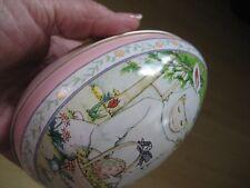 Vintage Mary Engelbreit Tin Easter Fillable Egg Bunny Boy Midwest Metal