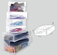1x Schuhbox transparent für Stiefel Aufbewahrungsbox Schuhkasten Schuhschachtel