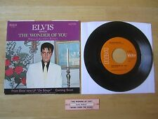 Elvis 45rpm record & sleeve: The Wonder Of You,RCA # 47-9835, 1970 Jukebox strip