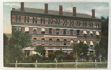 1909 PA Postcard Mauch Chunk Pennsylvania Navigation Building front trees color