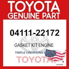 GENUINE OEM TOYOTA GASKET KIT, ENGINE 04111-22172