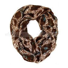 Leopard Cheetah Wild Animal Print Block Circle Loop Wrap Infinity Scarf Casual