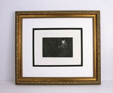 """Strong REMBRANDT 1800s Religious Etching B113 """"The Star of the Kings"""" FRAMED COA"""