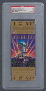 PSA EX 5 - VINTAGE 1992-1993 NFL SUPER BOWL XXVII FULL TICKET COWBOYS AIKMAN MVP